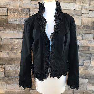 Jackets & Blazers - Katherine black lace jacket
